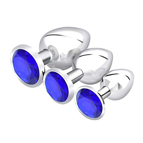 3Pcs Ànàl Pl'uĝ Jewelry Stainless Steel Ànâles Trainer Kit Bûtt Pl'ugs Beads Àmal Pugs Beginner Set Adụlt Toys for Women and Men Mini erer131
