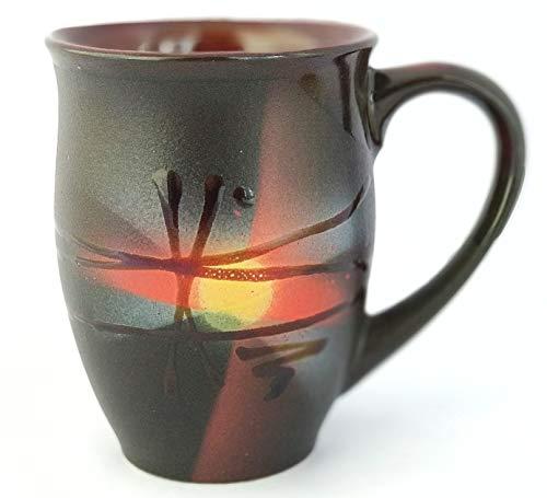 Pottery coffee mug «Sunrise» 16.9 fl oz
