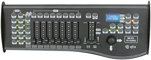 QTX DM-X12 192-Kanal-DMX-Controller mit Joystick-LCD-Display MIDI-Verbindung