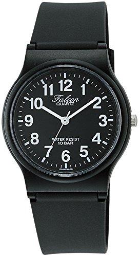 [シチズン キューアンドキュー]CITIZEN Q&Q 腕時計 Falcon (フォルコン) アナログ表示 10気圧防水 ブラック...