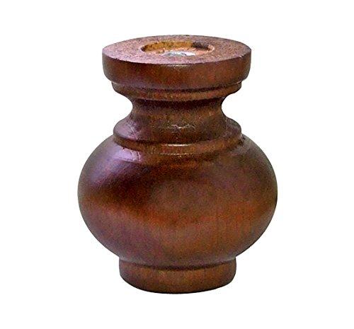 Home System 67885 Dekor Holzfuß, Durchmesser: 72, Höhe: 80 mm, Walnuss, Farblich sortiert (Auswahl nicht möglich)