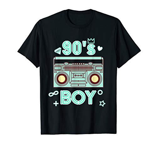 Herren 90er Jahre Party 90s Boy Neunziger Outfit T-Shirt