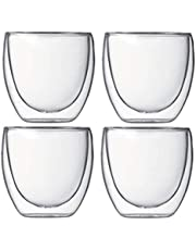 Double Walled Espresso Glasses (4pcs) Set 80 ml