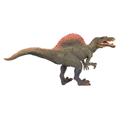 Dinosaur Toy Spinosaurus Figurine with Movable Jaw - Realistic Plastic Toy Dinosaur Figure for Children, Themed Parties, Decorations, Green - 11.5 x 6 x 3.5 Inches