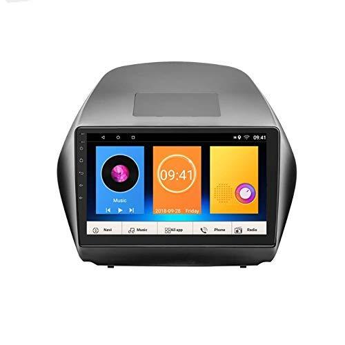 Reproductor estéreo de Coche de 10 Pulgadas Android 7.1 MP5 en el Tablero GPS Radio estéreo 2-DIN IPS Pantalla táctil, WiFi, Bluetooth, Vista de Marcha atrás Compatible para Hyundai IX35 2010-2015