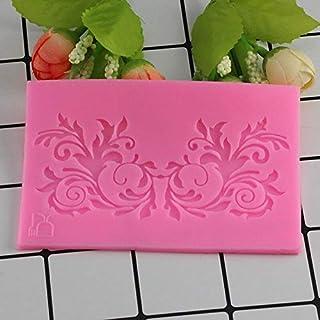 Cake Molds - Mujiang Leaf Flower Vine Lace Silicone Molds Fondant Cake Border Decorating Tools Kitchen Baking Candy Chocol...