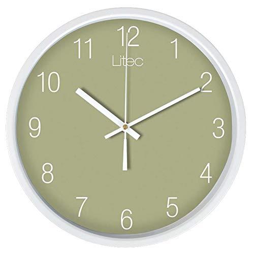 Triplsun-Clock wit frame grote wandklok modern met ronde stijl grote, gemakkelijk afleesbare cijfers. Ideaal voor elke ruimte thuis, eetkamer, keuken, kantoor, school.