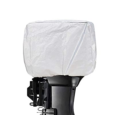 Kayme Outboard Motor Cover Waterproof Sunproof, 4 Layers Heavy Duty Motor Hood Cover, from 60HP to 150HP XXL by