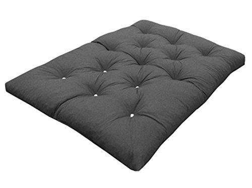 My Layabout Foam Crumb Futon Mattress | Roll Out Guest Bed | 10 Colours | 3 Sizes. (Double | 190cm x 125cm, Grey)