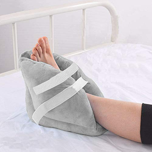Heel Protectors Cushion Pillows-1 Pair Heel Protector Pillow Off-Loading Heel Boot to Relieve Pressure from Sores and Ulcers Ultra Quilted Thick Soft Washable Pressure Relieving Pillow Boot