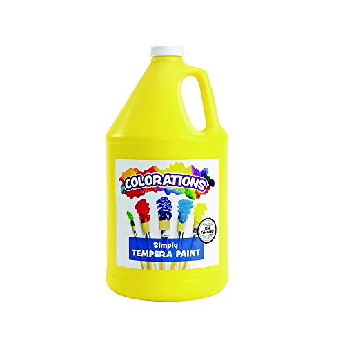 Colorations Tempera Paint, Gallon Size, Yellow, Non Toxic, Vibrant, Bold, Kids Paint, Craft, Hobby, Fun, Art Supplies (Item # GSTYE), 1 Gallon