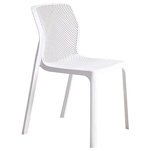 Comfortable Chair Dining Chair, Stackable Design Plastic Chair One-piece Molding Lounge Chair Household Computer Chair Restaurant Chair Maximum Carrying Capacity: 264lbs