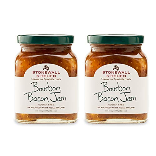 Stonewall Kitchen Bourbon Bacon Jam, 12.5 Ounce (Pack of 2)
