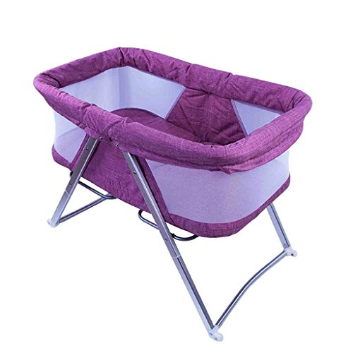 Buy Discount HLR-Travel Beds Cradles Multifunctional Baby Crib Travel Cots Foldable Baby Bed Portabl...