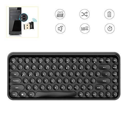 Home Office Tastatur und Maus, Handy Bluetooth-Tastatur Laptop-Home Use Büro Navigation Punk Flach Lippenstift Keyboard,h