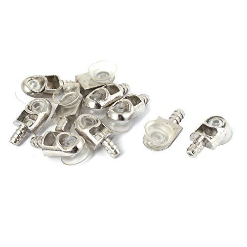 """jhhzpd Accessoires d'outils 10 pcs/lot Meubles armoires étagères en Verre étagères métalliques Support de Support Pinceaux Support Support Titulaire 13mm / 0,5""""Coupe 25 x 12 x 7mm serrer"""