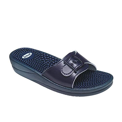 Scholl Chanclas de Playa New Massage Azul 40