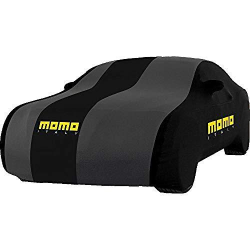 MOMO CC1LL Cubre Coches Transpirable Interior 1 Capa, Negro/Gris, L