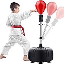 Reflex Bag Boxing Bag with Adjustable Stand, Adult and Children's Models, Freestanding Boxing Sandbag, Height Adjustable Outlet 53In-62In - Perfect for MMA Training, Etc., Fitness and Stress Relief.