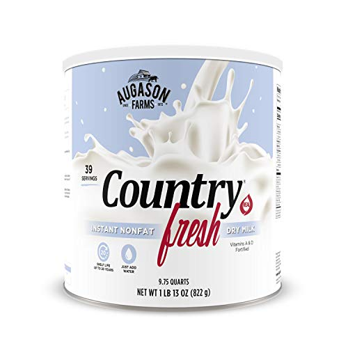 Augason Farms 5-90620 Country Fresh 100% Real Instant Nonfat Dry Milk, 1 lb, 13 oz.