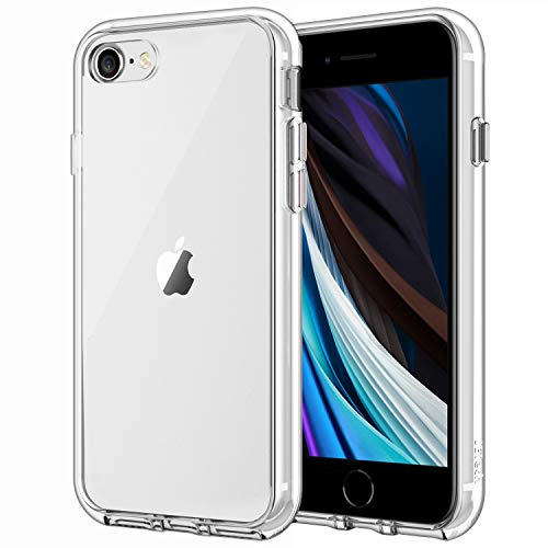 JETech Funda Compatible iPhone SE 2ª Generación, iPhone 8 iPhone 7, Anti- Choques y Anti- Arañazos, HD Clara