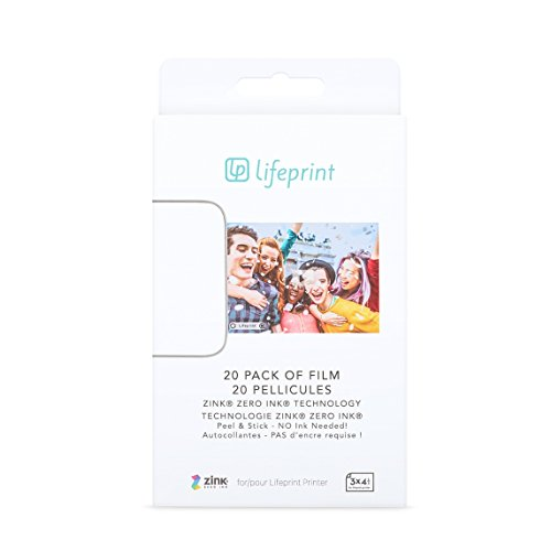 Lifeprint - Paquet de 20 films 3x4,5