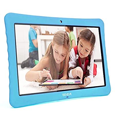 """All 10 Kids Tablet,10.1"""" Inch 1080p Full HD Display Android 7.0,2GB+32 GB,Dual Camera Front 2MP+ Rear 5MP,Bluetooth and WiFi Blue Kid-Proof Case"""