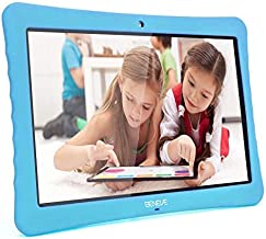 "10 Kids Tablet, 10.1"" Inch 1080p Full HD Display Android 7.0, 2GB+32 GB, Dual Camera Front 2MP+ Rear 5MP, Bluetooth and WiFi Blue Kid-Proof Case(Blue)"