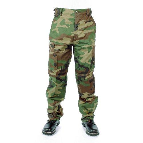 Pantalone BDU USA tipo Ranger in misto poliestere Woodland