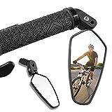 Rückspiegel Fahrrad [1 Stück], 360°Drehbar Fahrradspiegel, HD/Schlagfest Lenkerendenspiegel Fahrrad, Fahrrad Spiegel Klein für Lenker 16-22 mm, Fahrrad Rückspiegel Passend für MTB Rennräder E-bike