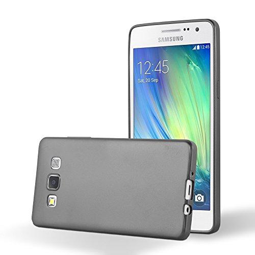 Cadorabo Funda para Samsung Galaxy A5 2015 en Metallic Gris - Cubierta Proteccíon de Silicona TPU Delgada e Flexible con Antichoque - Gel Case Cover Carcasa Ligera