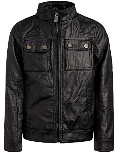 Urban Republic Boy's Faux Leather Officer Jacket, Black,...