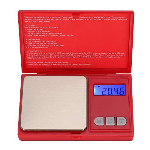 Digitalwaage Gramm, Taschenwaage Schmuckwaage Küchenwaage Digitalgewicht, 500g/0,01g
