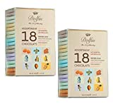 Dolfin Assortimento di 18 Mini Tavolette di Cioccolato Aromatizzate Made in Belgio (Totale 36 Mini Tavolette) - 2 x 180 Grammi