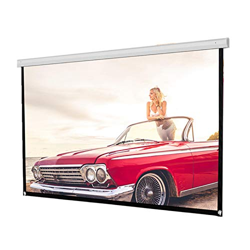 72inch HD Projection Screen, Portable Foldable Outdoor Indoor Wall-Mounted Theater Projector Screen 1:1 Movie Screen for Home Theater Camping and Recreational Events (72inch)