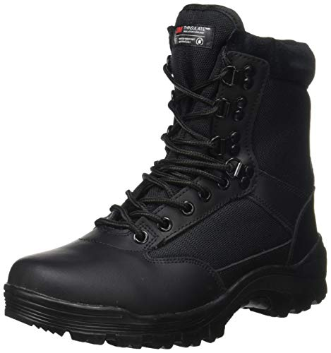 Tactical Bottines à fermeture Éclair YKK Kaki, Noir, 44 EU