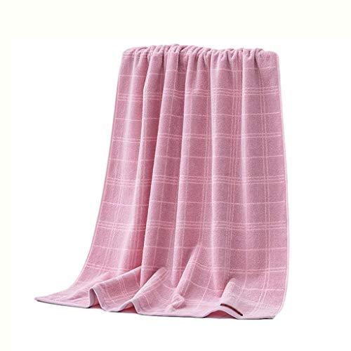 ZRJ Toallas de baño de celosía, ecológicas y de secado rápido, toallas de algodón de alta calidad, sauna, viajes, gimnasio, preferente (color: rosa)