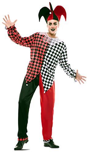 EUROCARNAVALES Disfraz de Arlequín Rojo para Hombre