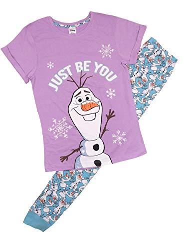 Pijama para mujer con licencia oficial de tallas de 8 a 22 (12 a 14, Frozen Olaf)
