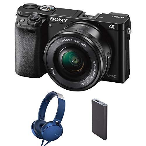 Sony Alpha ILCE 6000L 24.3 MP Mirrorless Digital SLR Camera with 16-50 mm (APS-C Sensor, Fast...