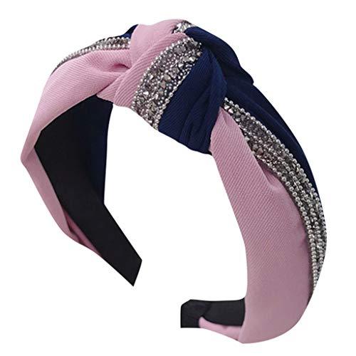 DOFENG Damen Breit Haar-Stirnband mit Blume Gedruckt Haar Kopfband Mode Knoten-Haarband Einfache SüßE MäDchen Einfach Elegant Sport (A, One size)