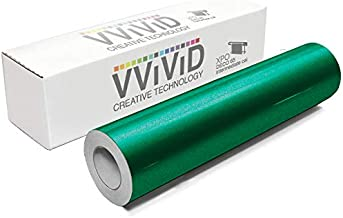 VViViD DECO65 Reflective Green Permanent Adhesive Craft 12 Inches x 5 Feet Vinyl Roll for Cricut, Silhouette & Cameo Including Free 12 Inches x 12 Inches Transfer Paper Sheet