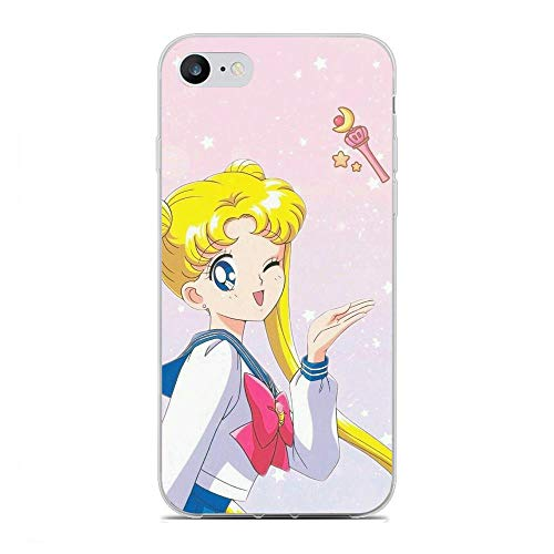 Clear Coque Transparency Soft TPU Slim Case Silicone Cover for Apple iPhone 6/6s-Sailor-Moon Girl Anime 5