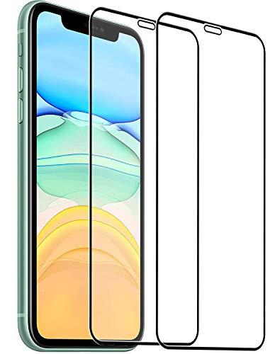 [2 Stück] Panzerglas Schutzfolie für iPhone 11 und iPhone XR,9H Super-Härte,Full Screen 3D Folie,Anti-Öl, Anti-Kratzen,HD Glas Displayschutz für iPhone Xr/11 - Hüllenfreundlich