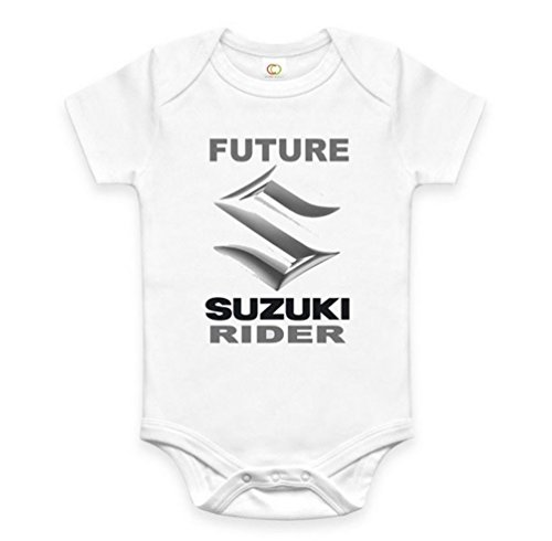 Rare New Future Suzuki Driver Funny Baby Clothes Cute Unisex Bodysuit Onesie Short Sleeve Romper One Piece Prime Outfits with Sayings Body Bébé (3-6 Mois)
