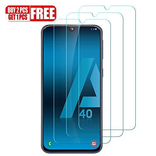 Hanbee Protector de Pantalla para Samsung Galaxy A40 Cristal Templado para Galaxy A40 Protector Pantalla, [3 Unidades]Alta Definicion, 3D Cobertura Completa, Resistente a Arañazos