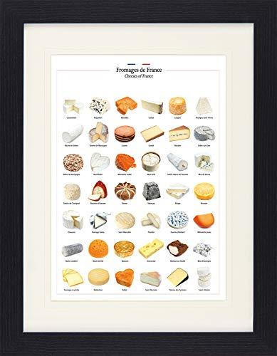 1art1 Queso - Quesos De Francia Póster De Colección Enmarcado (40 x 30cm)
