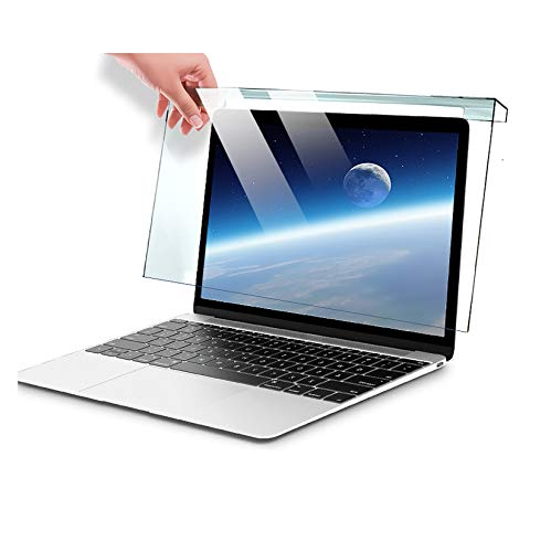 """WLWLEO Laptop Screen Protector for 12-17 inch Display Anti Blue Light Protector Filter Film Hanging Acrylic Protector Panel for Laptop Notebook Computer Protect Eyesight,12""""(300195)"""