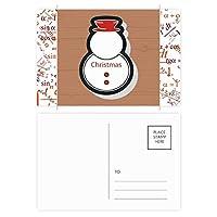 クリスマス雪だるまのクリスマスのアイコン 公式ポストカードセットサンクスカード郵送側20個