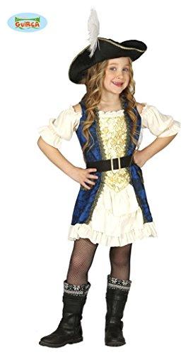 Guirca Deluxe Piratin Kleid Kostüm für Mädchen Gr. 110-146, Größe:110/116